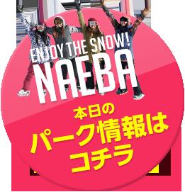 ENJOY THE SNOW! NAEBA 本日のパーク情報はコチラ